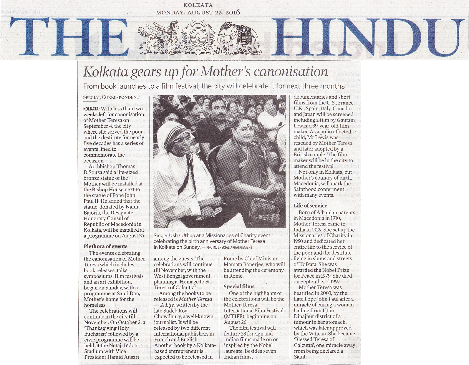 The Hindu Mother Teresa